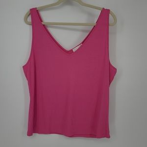 4/$25 Forever 21 Ribbed Pink Plus Size Tank Top